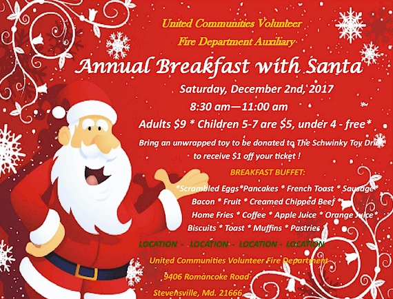 Breakfast Buffet with Santa - Click Here!