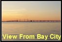 Bay Bridge at Sunset as seen from Bay City.  Click to enlarge.